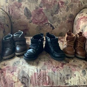 3 PAIRS  BOY ANKLE BOOTS